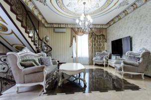 Интерьерная фотосъемка шикарного дома